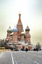 Cathedral of vasily the blessed on red square in moscow Royalty Free Stock Photo