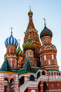 Cathedral of Vasily the Blessed on the Red Square in Moscow Royalty Free Stock Photo