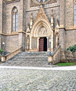 Cathedral view of a entrance Royalty Free Stock Photos