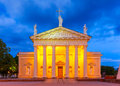 Cathedral of Vilnius in the evening, Lithuania. Royalty Free Stock Photo