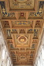 Cathedral wood ceiling Stock Photo