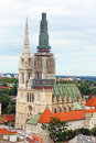 Cathedral in zagreb croatia of assumption of the blessed virgin mary Stock Photos