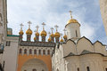 Cathedrals inside Moscow Kremlin, Russia. Royalty Free Stock Photo