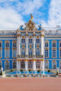 Catherine palace in saint petersburg located the town of tsarskoye selo near russia Royalty Free Stock Photos