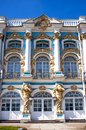 The catherine palace in town of pushkin tsarskoye selo was summer residence of russian tsars Royalty Free Stock Photo