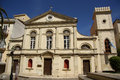 Catholic cathedral in corfu town greece facade of the of saint jacob and saint christopher built heavily damaged by the nazi Stock Photography