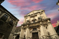 Catholic church of Catania. Sicily Royalty Free Stock Photo