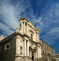 Catholic church of Catania. Sicily, southern Italy Stock Photography