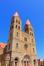 Catholic church in china building tsingtao city Royalty Free Stock Photography