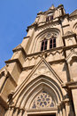 Catholic church in gothic architecture style Stock Images