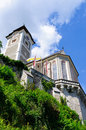 Catholic Church of Hallstatt in Austria Royalty Free Stock Photos