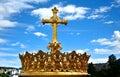 Catholic Church Holy Cross against blue sky Royalty Free Stock Photo
