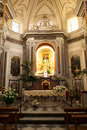 Catholic church interior in italy Stock Photos