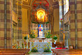 Catholic church interior view alba italy altar as part of of madonna moretta in northern Royalty Free Stock Image