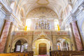 Catholic church interior view in sibiu holy trinity hermannstadt Stock Image