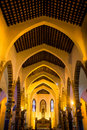 The catholic church interior in weizhou island guangxi china it was built in by french catholics Stock Images