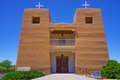 Catholic church new mexico sacred heart nambe high road taos nuestra senora de guadalupe del valle de pojoaque Stock Images