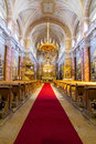 Catholic church in sibiu interior view holy trinity hermannstadt Stock Image