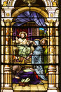 Catholic Church Stained Windows Royalty Free Stock Image