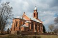 Catholic church in unesco heritage site kernave lithuania Royalty Free Stock Image