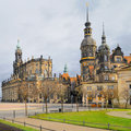 Catholic Hofkirche in Dresden Royalty Free Stock Photo