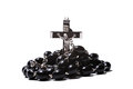 Catholic rosary with a crucifix Royalty Free Stock Photo