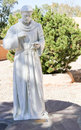 Catholic saint statue marble of Royalty Free Stock Photo