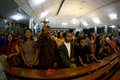 Catholics worship with indigenous javanese culture at a church in solo central java indonesia Stock Images