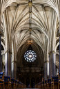 Catolic cathedral interior Royalty Free Stock Photo