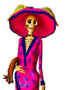 Catrina day of the dead skeleton traditional mexican isolated Stock Photography