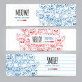 Cats banners template Royalty Free Stock Photo