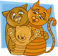 Cats family Stock Photos