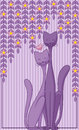 Cats in love abstract background with two Stock Photos