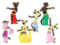Cats.Oriental dancers Royalty Free Stock Photos