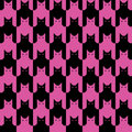 Cats Pattern_Black-Magenta Stock Image