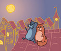 Cats romance Royalty Free Stock Images