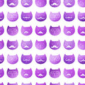 Cats seamless pattern. Vector. Vector triangle cats. Abstract ca
