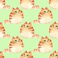 Cats, seamless pattern