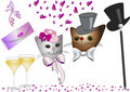 Cats at Valentine Day Royalty Free Stock Images