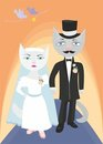 Cats wedding Royalty Free Stock Photography