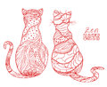 Cats. Zen art