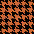 CatsTooth Pattern_Orange-Black Royalty Free Stock Images