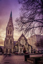 Cattedrale di christchurch Fotografia Stock