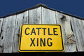 Cattle crossing sign Royalty Free Stock Photo