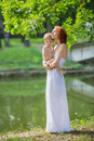 Caucasian baby boy take rest in park summer Royalty Free Stock Photography