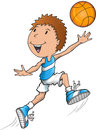 Caucasian basketball player vector illustration art Stock Image