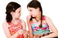 Caucasian girls listening MP3 Royalty Free Stock Photo