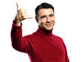 Caucasian handsign man gesture Royalty Free Stock Photo