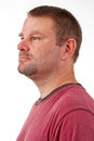 A Caucasian male with a goatee Royalty Free Stock Photo
