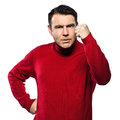 Caucasian man angry gesturing Royalty Free Stock Photo